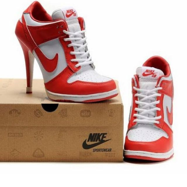 b977eee554a6d9 high heeled trainers ergh, but these!! | shoes | Nike high heels ...