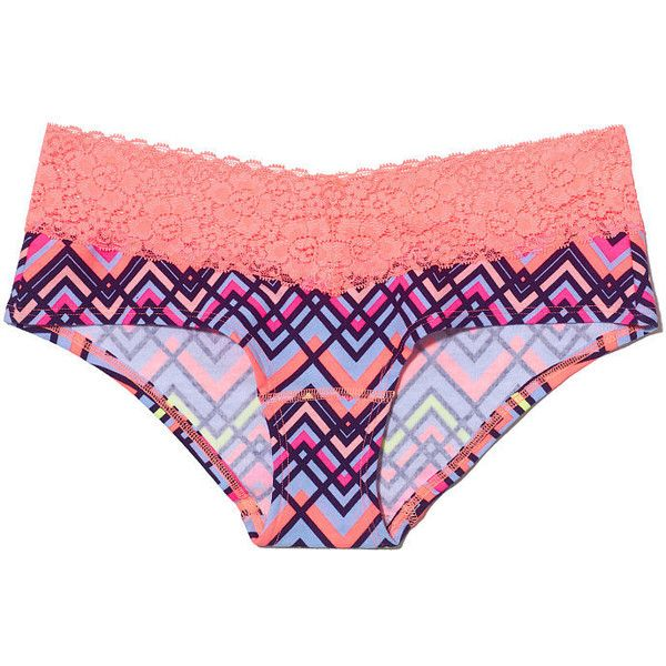 Victoria's Secret Lace Trim Hipster Panty ($9.50) ❤ liked on ...