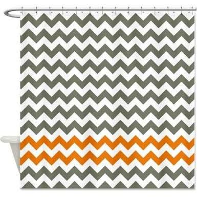 Grey And Orange Shower Curtains Google Search Kids Bathroom In