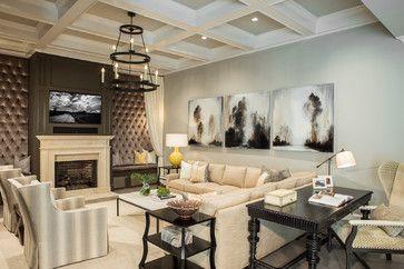 Living Rooms   Beach Style   Living Room   Atlanta   Pineapple House  Interior Design