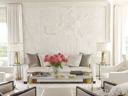 Glittering Heights Victoria Hagan S Nyc Apartment Monochromatic Living Room White Decor Interior Design