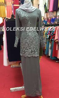 Baju Kurung Untuk Gala Dinner Warna Kelabu Formal Dresses Peplum Dress Fashion