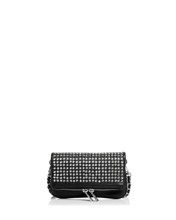 6ed108fafdf Zadig   Voltaire Rock Nano Spike Mini Leather Crossbody Clutch ...