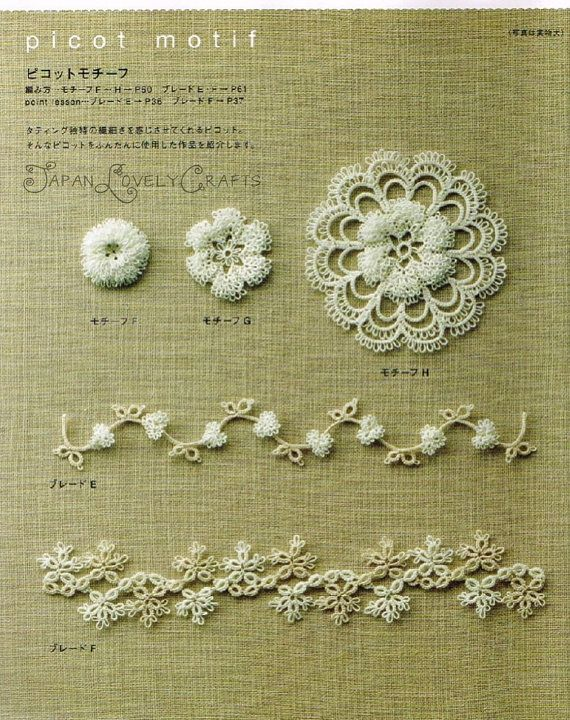 Easy! Tatting Lace - Emiko Kitao - Japanese Craft Pattern Book for ...