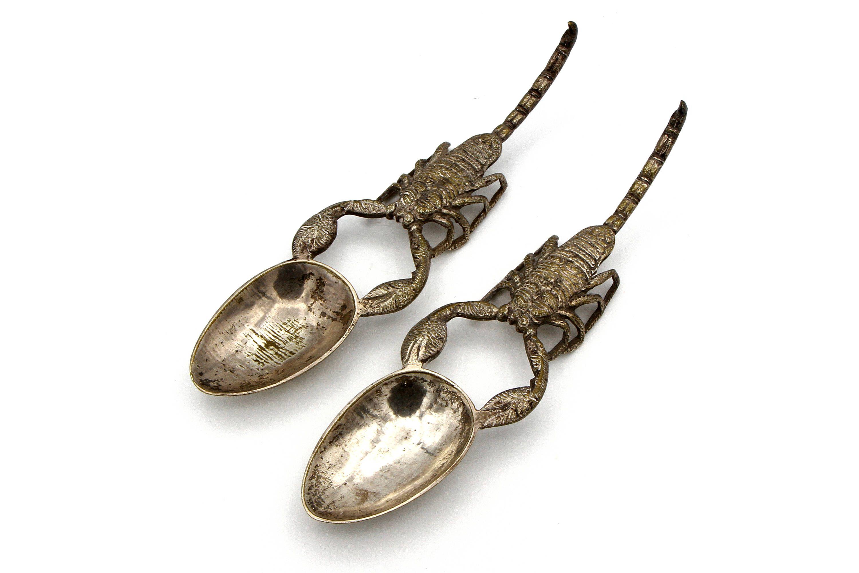 Scorpion Spoons Zodiac Gift Silver Plated Set Heavy Br Scorpio