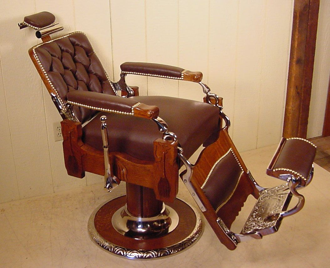 KOKEN Oak Barber Chair - KOKEN Oak Barber Chair BARBER CHAIRS,POLES,SIGNS,etc