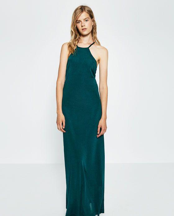 Imagen 1 de VESTIDO CUELLO HALTER de Zara | Physical stores | Pinterest