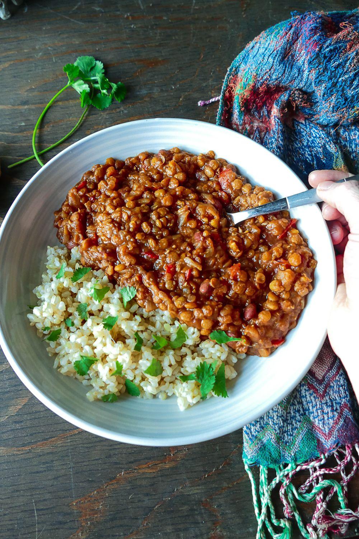 Madras Lentils Instant Pot Wfpb Vegan