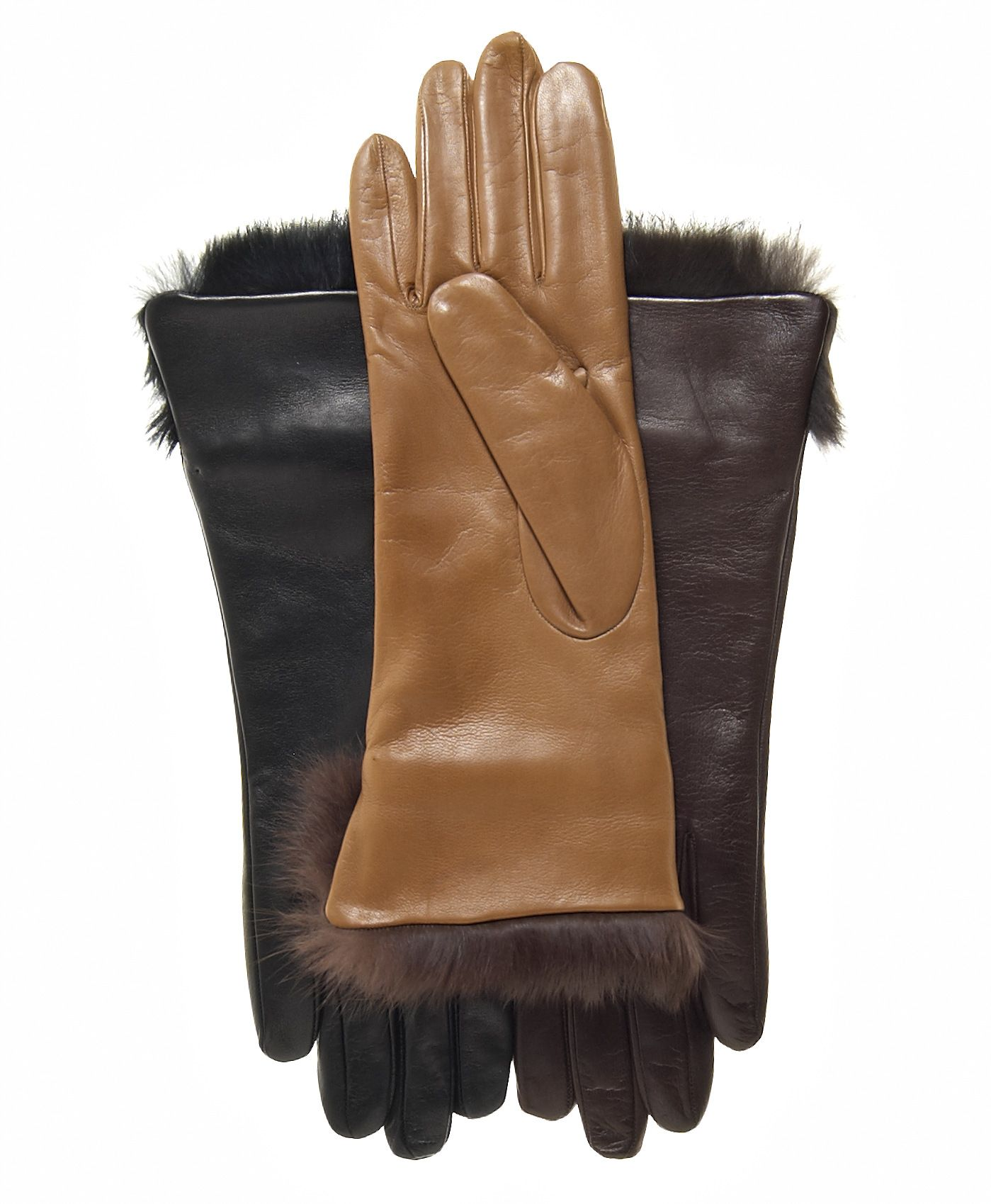 Mens leather gloves tj hughes - Women S Italian Rabbit Fur Cuff Winter Leather Gloves By Fratelli Orsini Free Usa Shipping