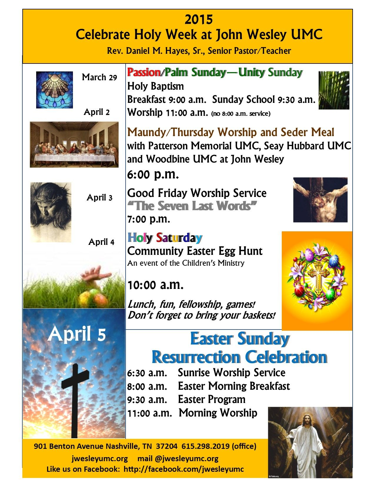 announcing the activities of holy week john wesley umc holy week flyer 2015 cjh