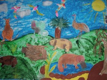 Australia Display, classroom display, class display, Places, place, geography, Australia, animals, kangaroo,Early Years (EYFS), KS1 & KS2 Primary Resources