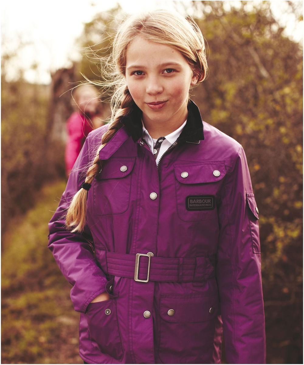 get online buy online wide range Girls Barbour Nylon International Waterproof Jacket is a ...