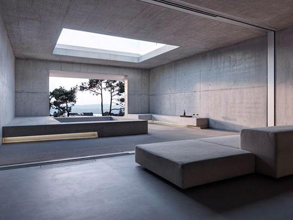 Contemporary Concrete House With Two Verandas And No