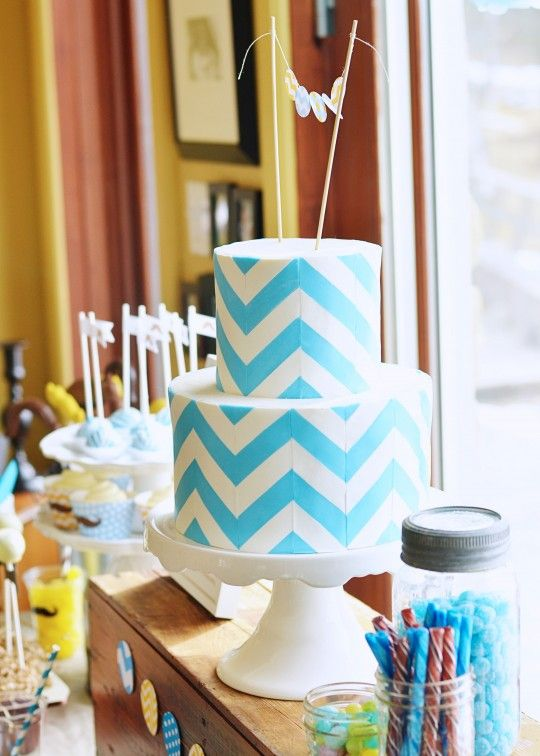 Color Between the Lines Creative Striped Cakes Chevron cakes