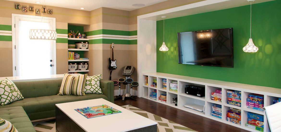 45 Video Game Room Ideas To Maximize Your Gaming Experience Game Room Kids Entertainment Room Design Family Room Design