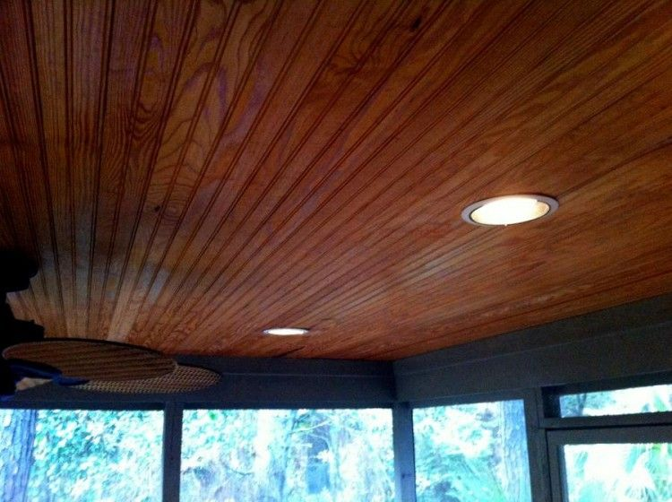 Creative Basement Ceiling The Back Porch Had This Fantastic Wood - Wood Paneling Ceiling WB Designs