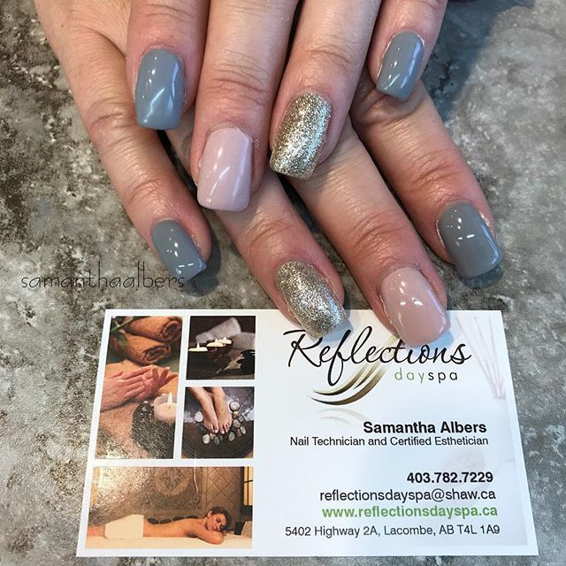 @amoreultima • glacial grey • nude-trial • white gold • 💅 #samanthaalbers #nails #nailtech #nailswag #nailstyle #nailsofinstagram #nailstagram #gelnails #amoreultima