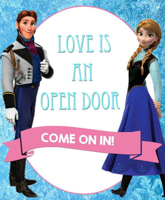 Frozen S Love Is An Open Door Decorative Sign By Anas129 On Etsy Frozen Theme Party Frozen Fever Party Frozen Party
