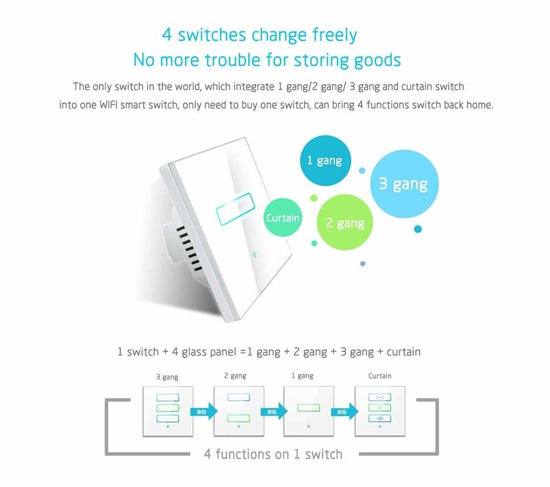 Lanbon 1 Gang 1 Way Touch Wifi Touch Wall Light Switch With Timing Function For Smart Homekit Automation Work Wi Smart Switches Remote Control Light Phone Apps