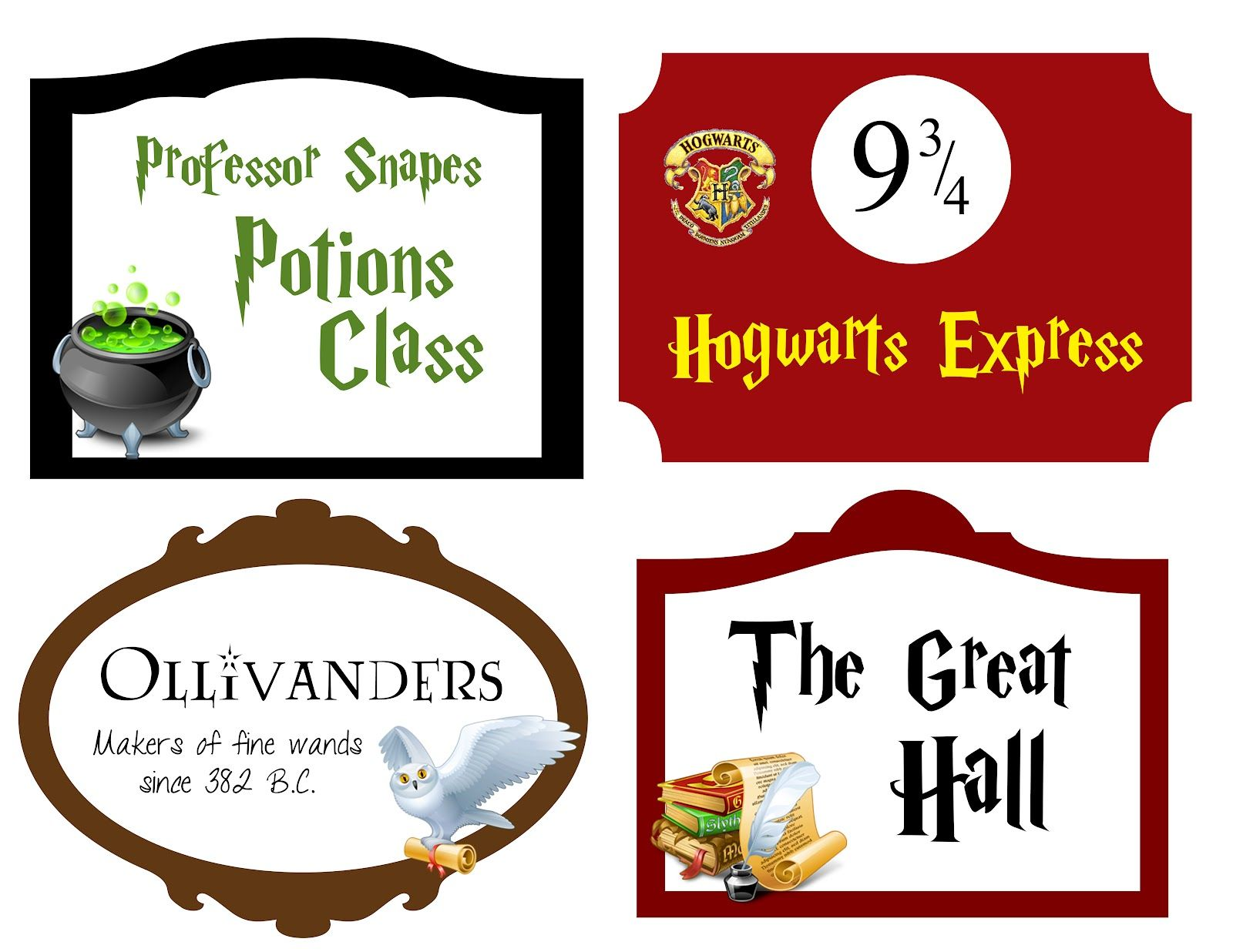 picture relating to Hogwarts Express Printable titled Printables for cupcake toppers, an Ollivanders indicator, a