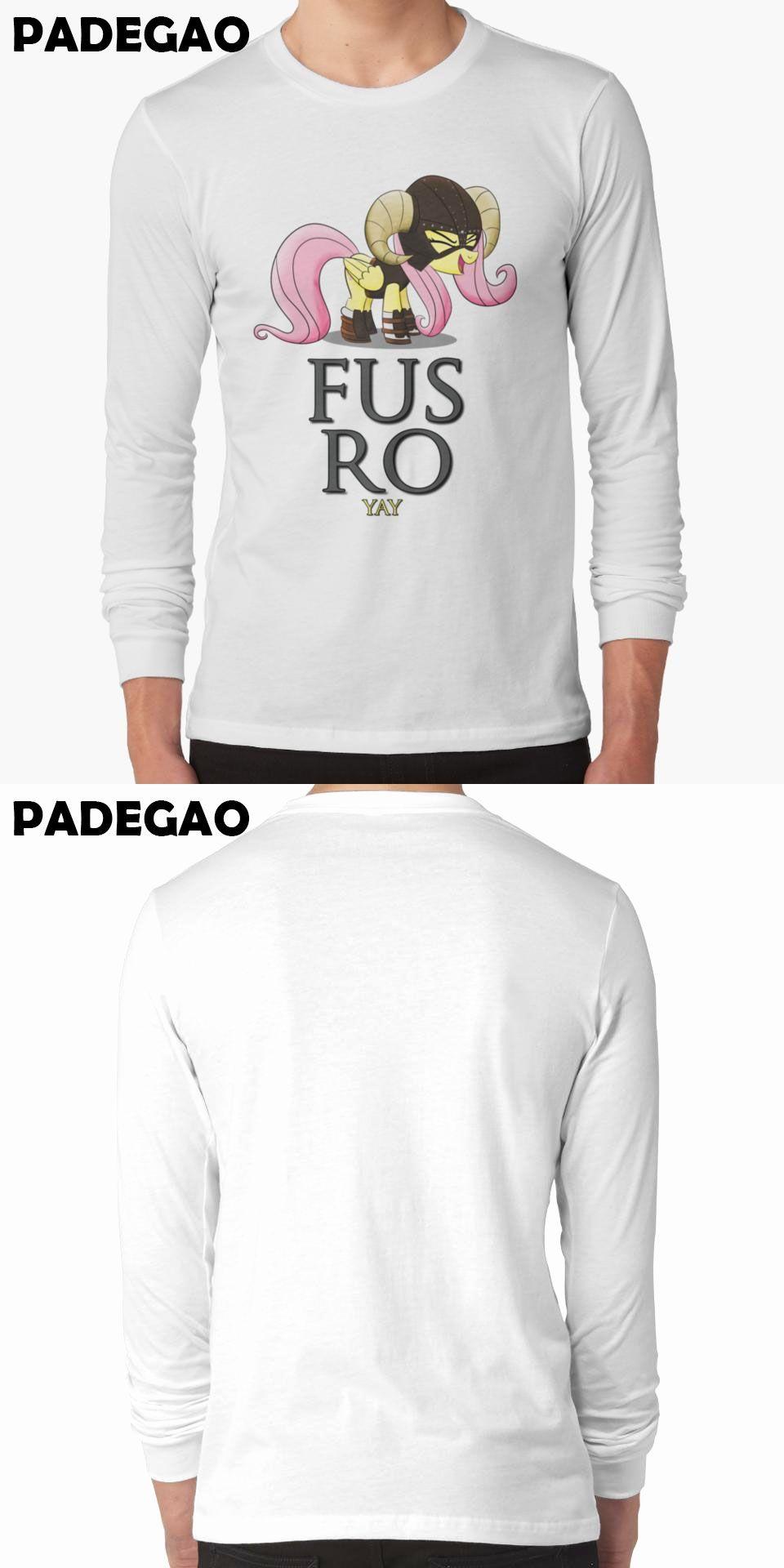 31d8b1fc738e0 FUS RO yay (My Little Pony  Fr Cartoon printed Japan style Tee Shirt White  long sleeve O-neck t-shirts plus size S-3XL R001-CR