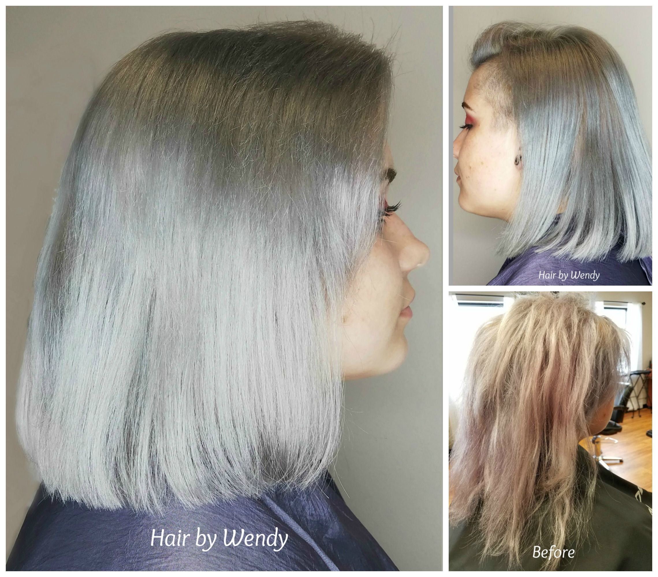 Transformation to beautiful silver! Color design by Wendy