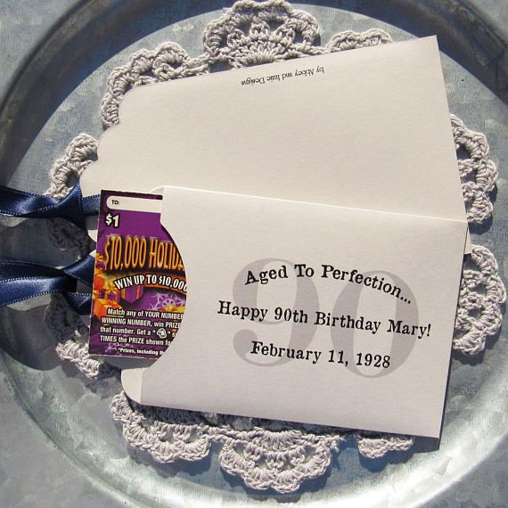 90th Birthday Favors