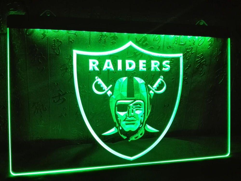 LA143- Oakland Raiders Football Bar Beer LED Neon Light