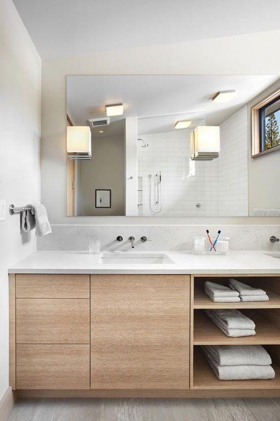 37+ Parfait Rangement salle de bain tuile décor