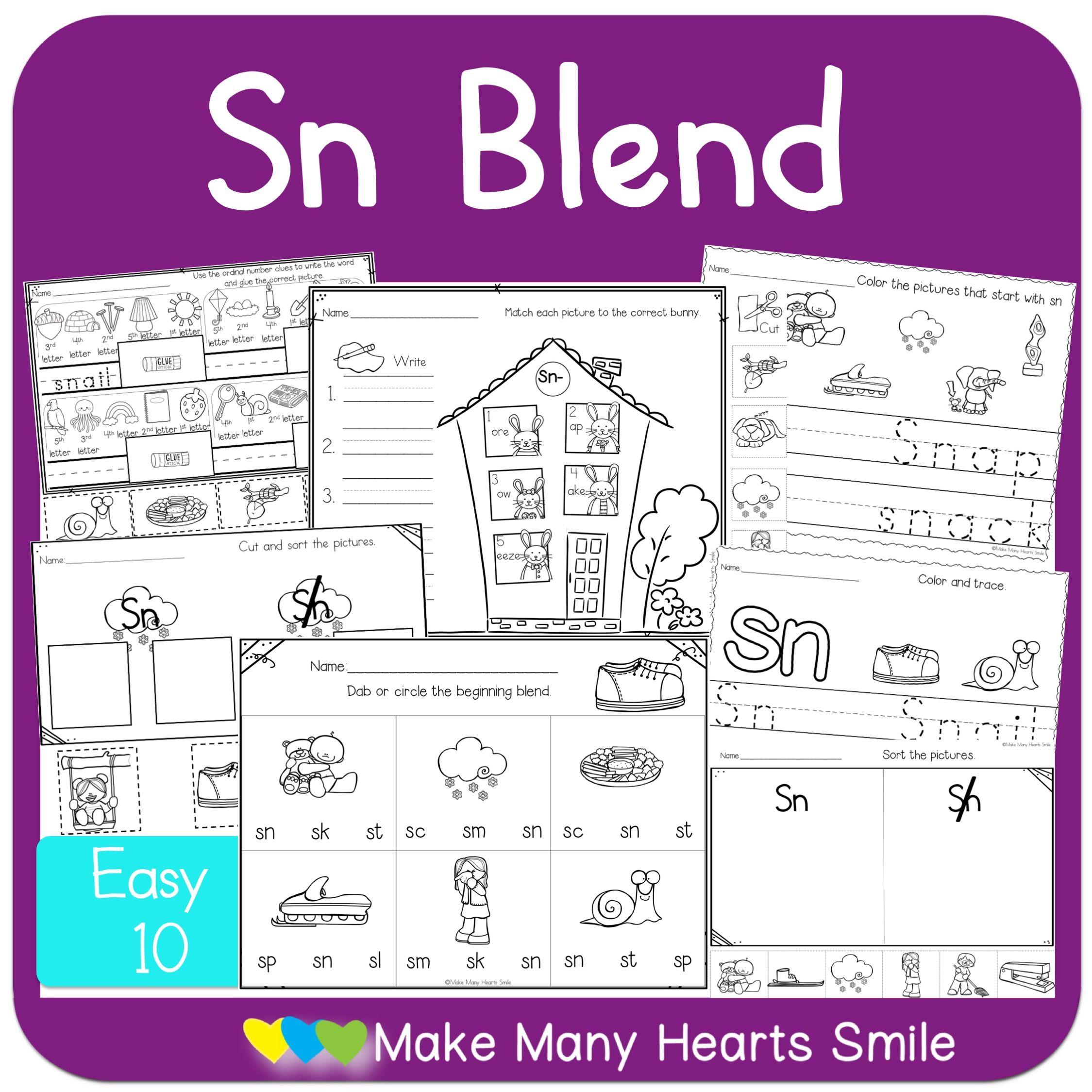 Sn Blend Fun Worksheets