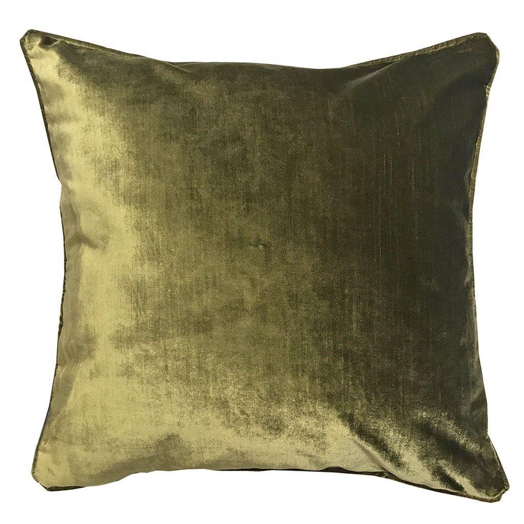 olive green velvet accent chair rio beach chairs 55x55 cm luxe cushion cover  pasx uk