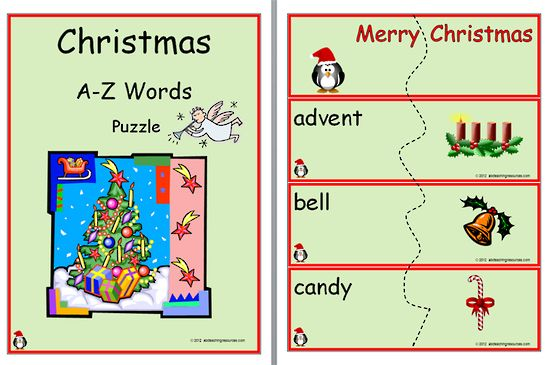 Christmas Words A Z.A Z Christmas Words Puzzle An Alphabetical Christmas