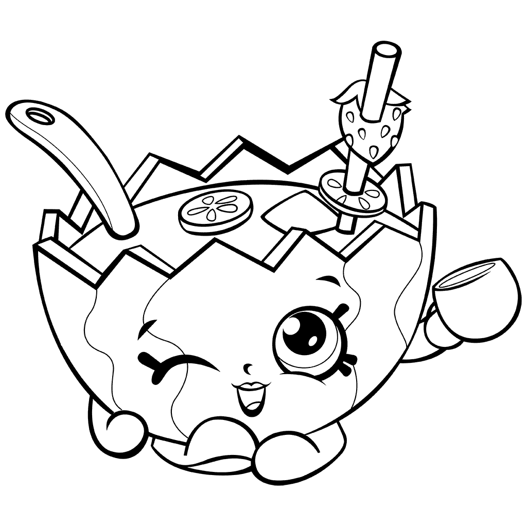 Mallory Watermelon Shopkins Coloring Page