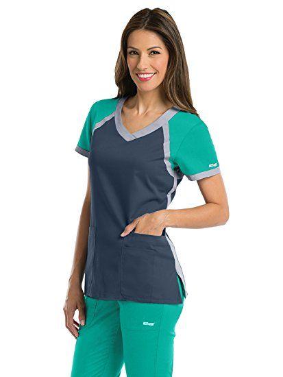 Amazon.com  Grey s Anatomy Active Women s Tri-Color V-Neck Scrub Top   Clothing  amazonaffiliate eedb71aa2dd4