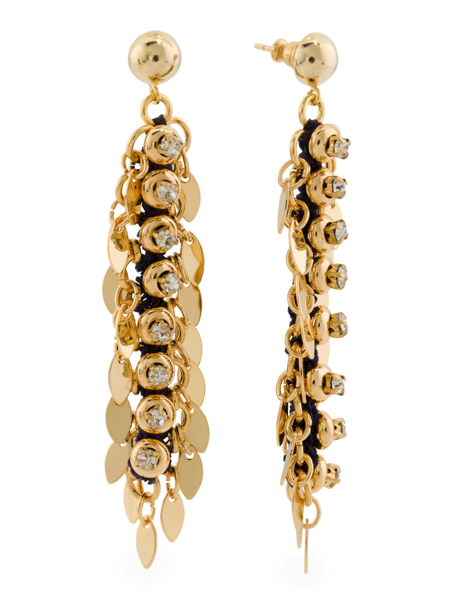 Designed In The Uk 18k Gold Plated Ju Statement Earrings