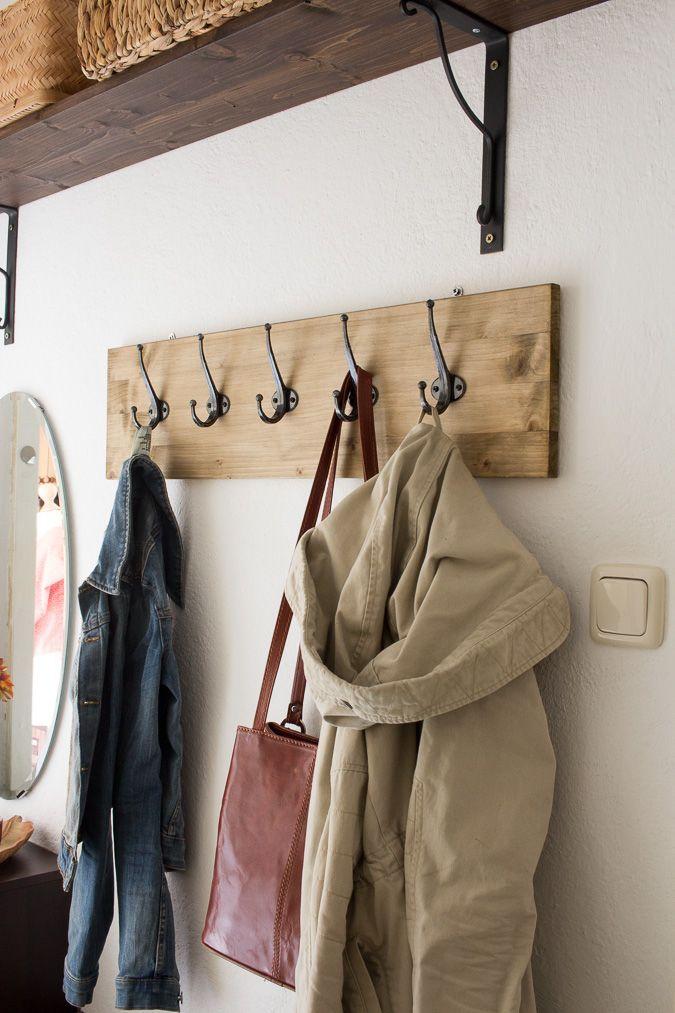 Diy Hakenleiste Garderobe Selber Bauen Garderobe Diy Und