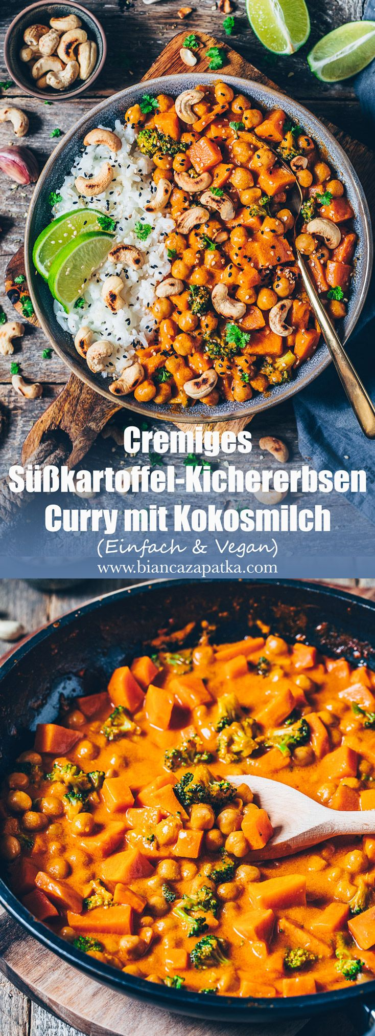 Photo of Sweet potato curry with chickpeas and coconut milk – Bianca Zapatka