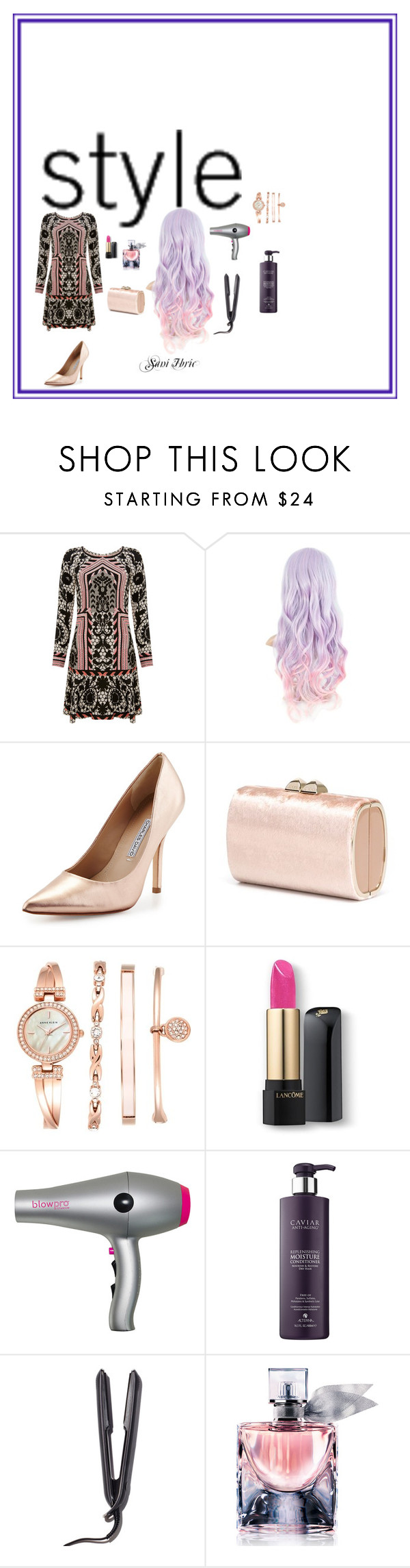 """""""Style"""" by saniibric ❤ liked on Polyvore featuring Temperley London, Charles David, Jimmy Choo, Anne Klein, Lancôme, blow, GHD, women's clothing, women and female"""