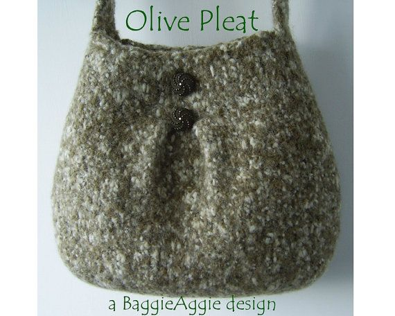 Knitting Bag Pattern Pinterest : INSTANT DOWNLOAD Felted Purse Pattern, PLEAT, Felted Bag Pattern, Knitting Pa...