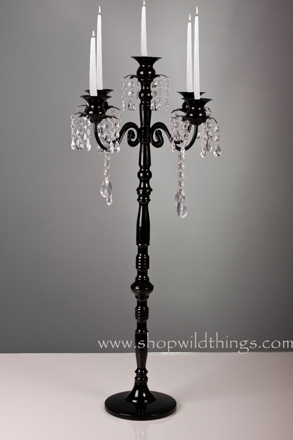 Our Beautiful Black Crystal Tabletop Chandelier Is Dripping With Beads And Beauty The Finish A Thick Paint On Top Of Metal
