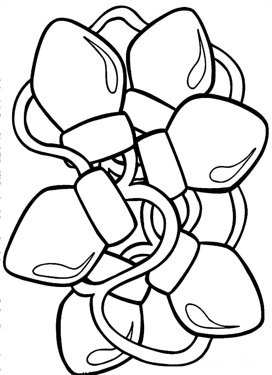 Christmas Lights Coloring Pages Printable Design