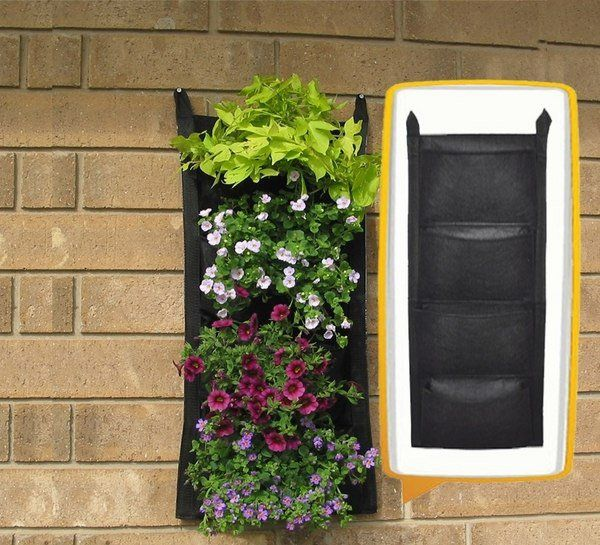 Great Felt Pockets Vertical Garden Living Wall Planter Ideas Wall Pocket Garden  Planters Ideas