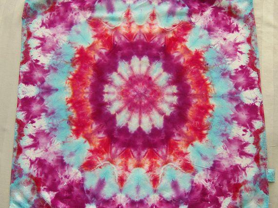 3237a174ebc Flower Mandala Tie Dyed Bandana Ice Dye