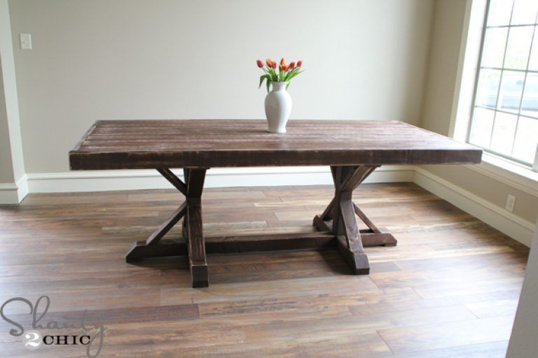 Diy Dining Room Table Restoration Hardware Inspired For 110 Shanty 2 Chic Plans