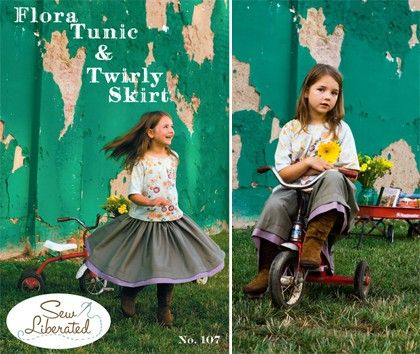 Sew Liberated Children's Sewing Pattern Flora Tunic & Twirly Skirt