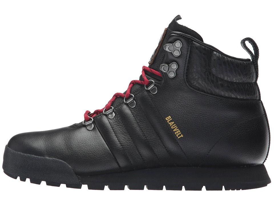 big sale 8b63c ae226 adidas Skateboarding Jake Boot Men s Lace-up Boots Black Black University  Red Leather