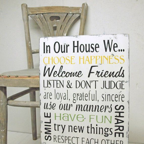 Family Rules In Our House We Choose Happiness By