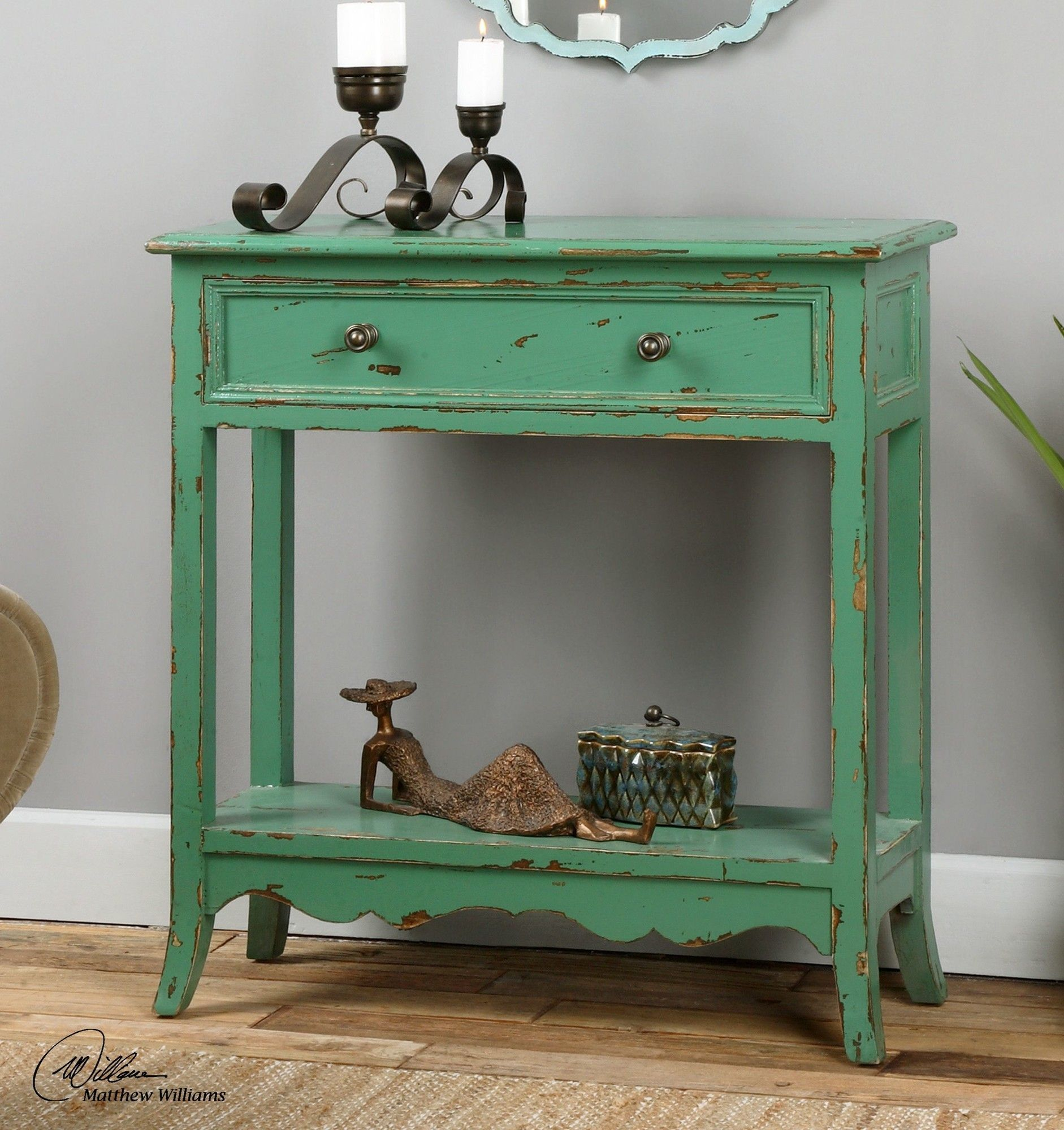 - Celso End Table (With Images) Green Accent Table, Wood Console
