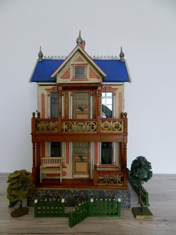 Moritz Gottschalk Haus um 1900 Puppenhaus, Puppen, Haus