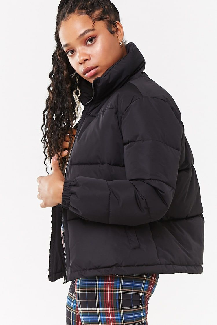 Zip Up Puffer Jacket Forever 21 Puffer Jackets Puffer Jacket Style Jackets [ 1125 x 750 Pixel ]